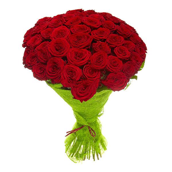 Букет из 45 роз (70см.)<br>Ростовка: 50, 60, 70, 80; Состав букета: Розовая роза, Оранжевая роза, Белая роза, Желтая роза, Красная роза, Малиновая роза, Коралловая роза, Кремовая роза;