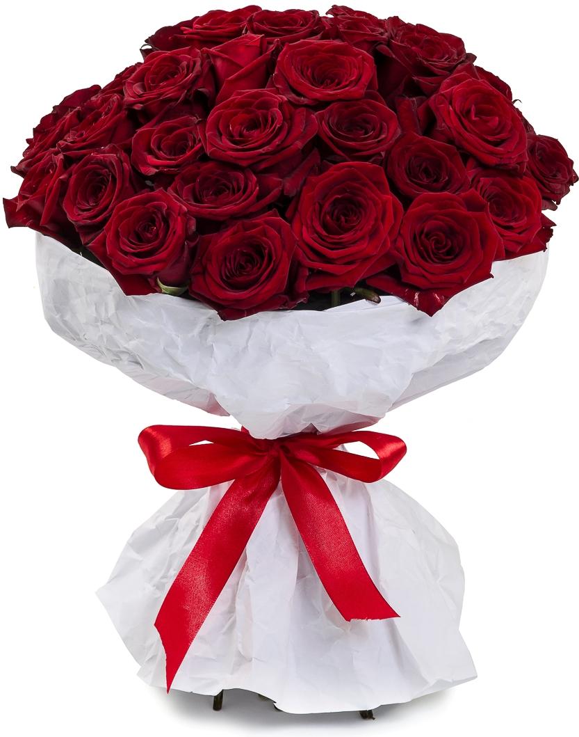 Вечерний Ургант<br>Ингредиенты: Крафт 1 шт, Роза (40 см) 35 шт;