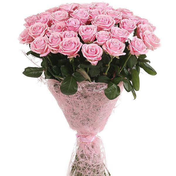 Букет из 33 роз (70см)<br>Ростовка: 50, 60, 70, 80; Состав букета: Розовая роза, Оранжевая роза, Белая роза, Желтая роза, Красная роза, Малиновая роза, Коралловая роза, Кремовая роза;