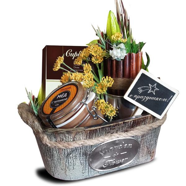 Подарочная корзина Мед и шоколад<br>