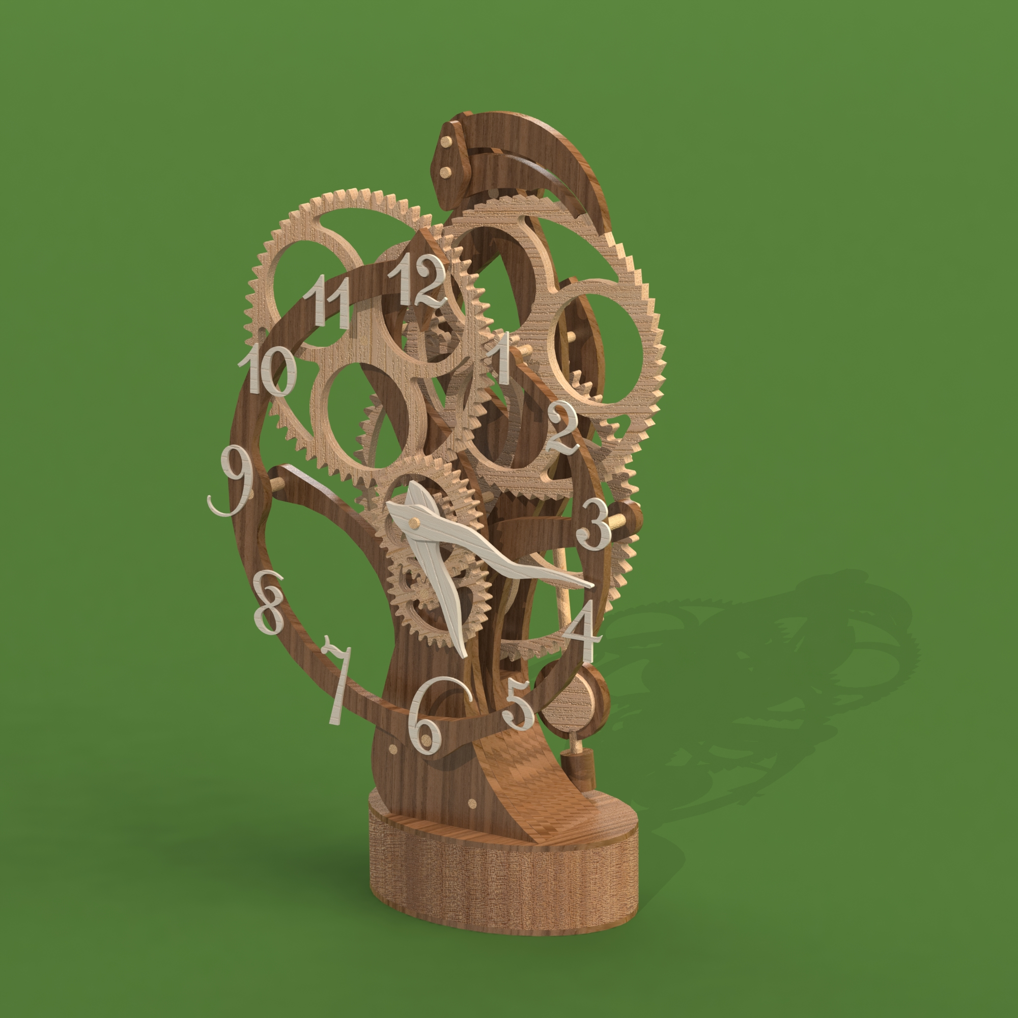 Настольные, каминные деревянные часы. Модель 7003.<br>